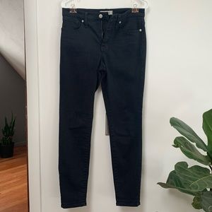 "Madewell 9"" High Riser Skinny Jeans Black"